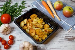 Pieczone talarki ziemniaki